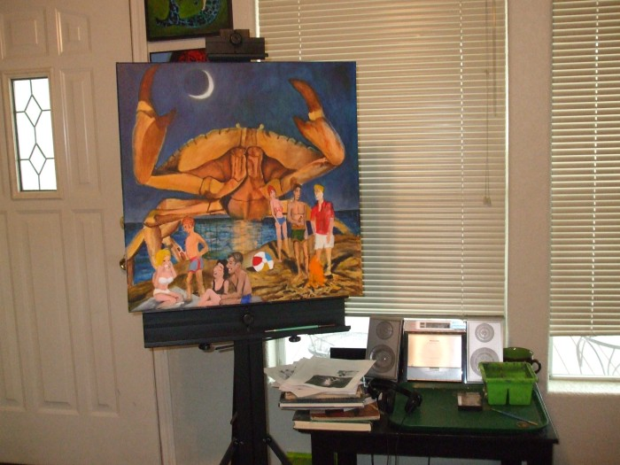 The Home Studio with work in progress